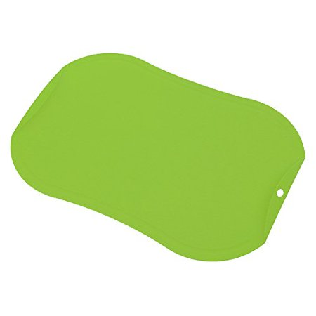 gabo TPU Antimicrobial Cutting Board with Handle, Large, Scratch Resistant, Flexible, Knife friendly, Non-Slip, Juice Groove, Dishwasher Safe - green