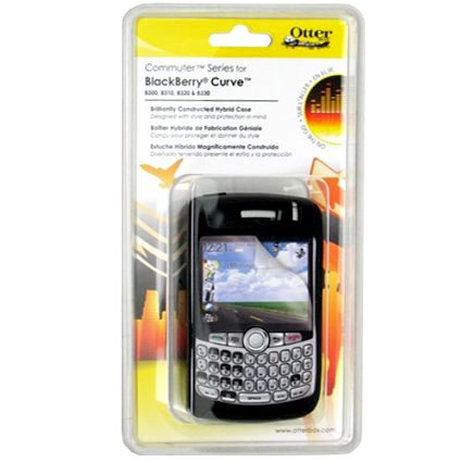 Otterbox Commuter Case for BlackBerry Curve 8300, 8310, 8320, 8330 - Black 8300 Curve Faceplate