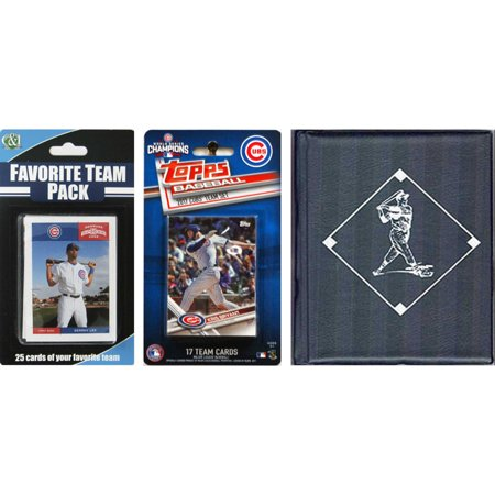 C & I Collectables MLB Chicago Cubs Licensed 2017 Topps Team Set and Favorite Player Trading Cards Plus Storage - Halloween Chicago Events 2017