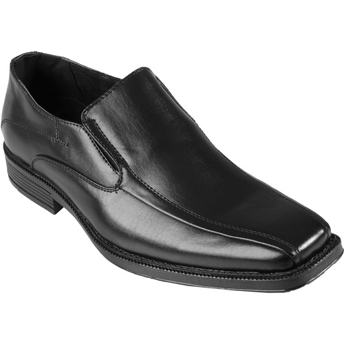 Daxx Mens Topstitched Square Toe Slip-on Loafer