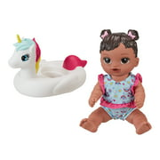 My Sweet Love Soft Baby and Unicorn Floaty Play Set, 2 Pieces, African American