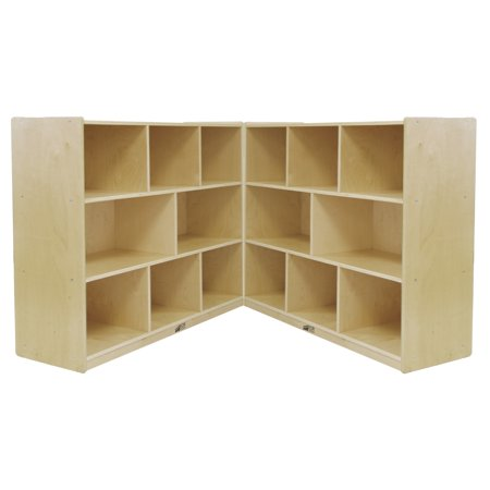 - Birch 8-Compartment Fold and Lock Cabinet 36in H