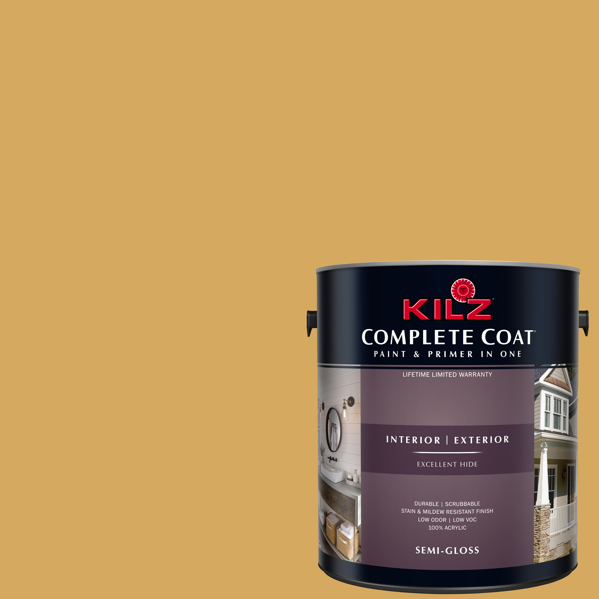 KILZ COMPLETE COAT Interior/Exterior Paint & Primer in One #LE110-01 Heart of Gold