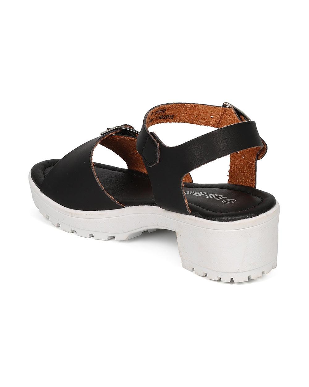 422a5ce8f58b7 Jelly Beans CE85 Leatherette Buckle Lug Sole Chunky Heel City Sandal  (Toddler/ Little Girl/ Big Girl)