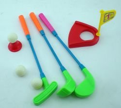 Mini Plastic Golf Clubs, Ball And Hole Cup ToyMini plastic clubs and a hole By Hammond... by