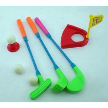 - Mini Plastic Golf Clubs, Ball And Hole Cup ToyMini plastic clubs and a hole By Hammond toys