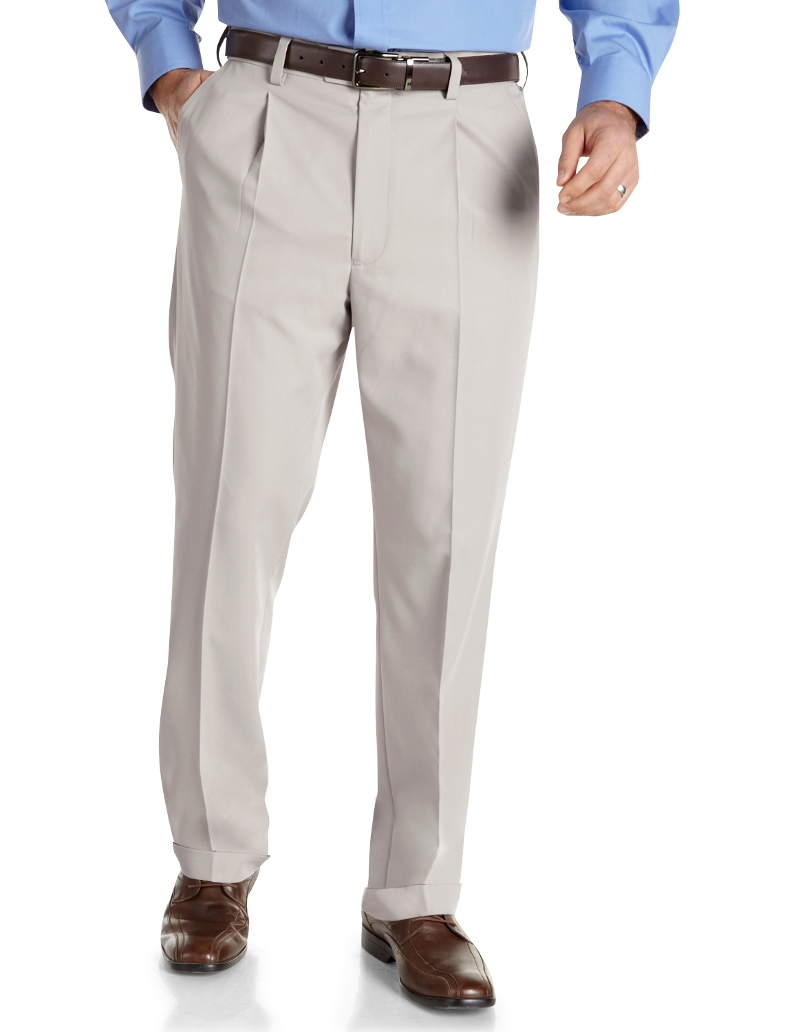 Men's Big & Tall Gold Series Continuous Comfort Performance Plus Pleated Pants