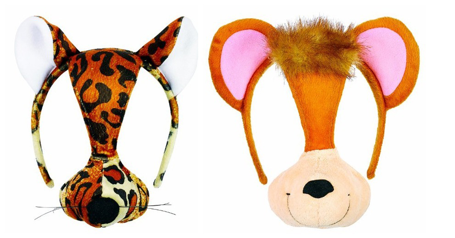 Small World Toys Furree Faces 2 Pc. Masks with sound Leopard & Monkey by Small Word Toys