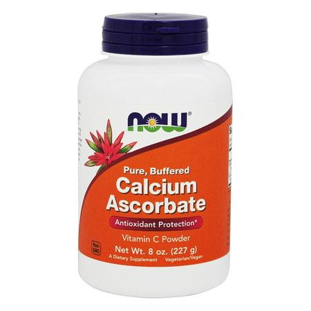 Calcium Ascorbate Buffered (NOW Foods - Calcium Ascorbate 100% Pure Buffered Vitamin C Powder - 8 oz.)