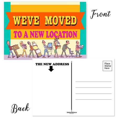 We've Moved Locations - Set of 50 Moving Announcement Postcards - Change of Address Postcards ()
