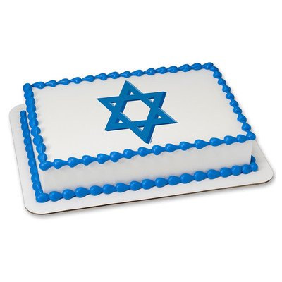 (Star of David Edible Icing Image for 8 inch round cake)