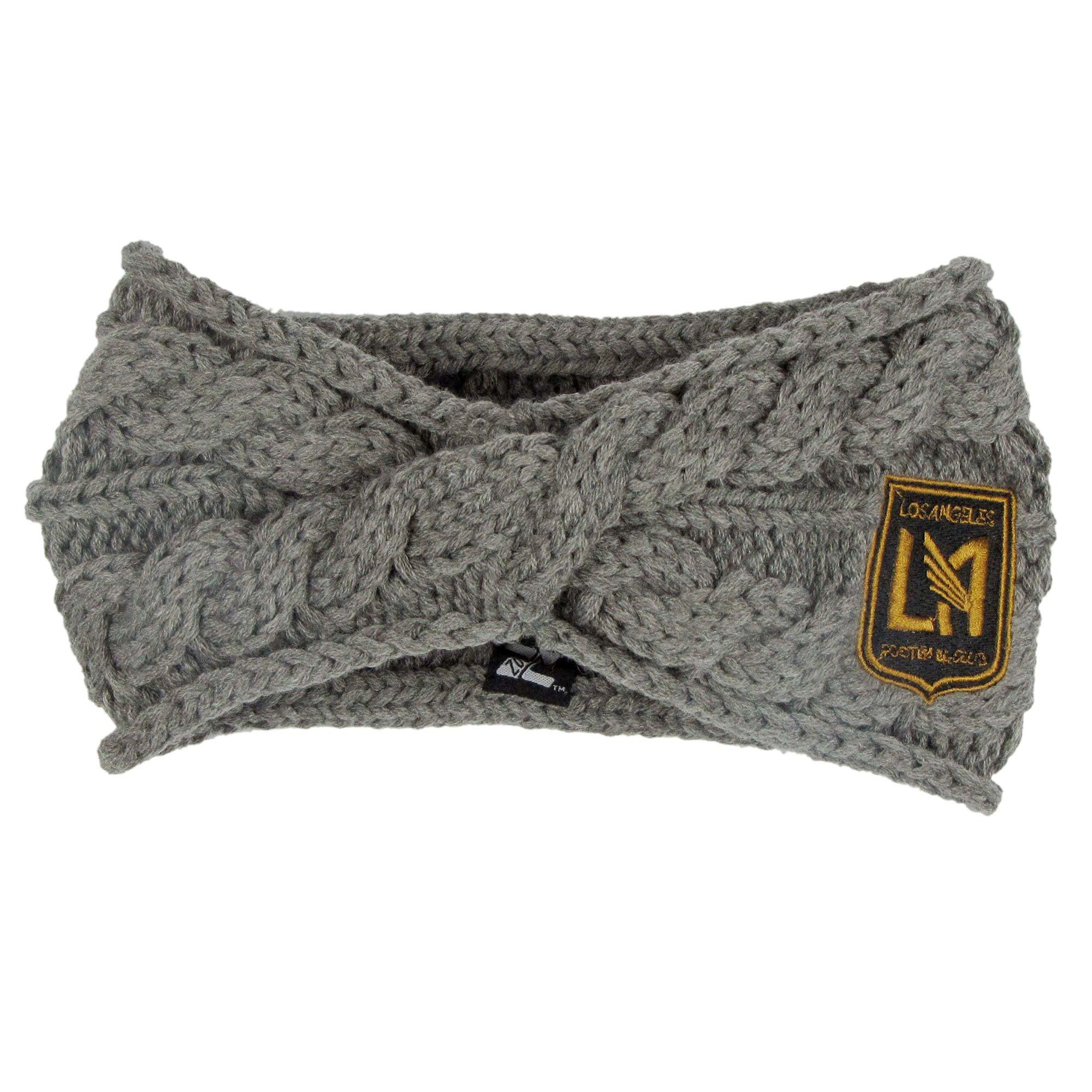 LAFC ZooZatz Women's Cable Headband - Charcoal - No Size