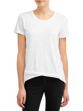 08659d045 Product Image Women's Asymmetric Hem Short Sleeve T-Shirt