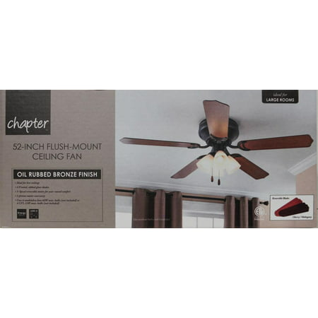 Chapter 52 4 light oil rubbed bronze ceiling fan walmart aloadofball