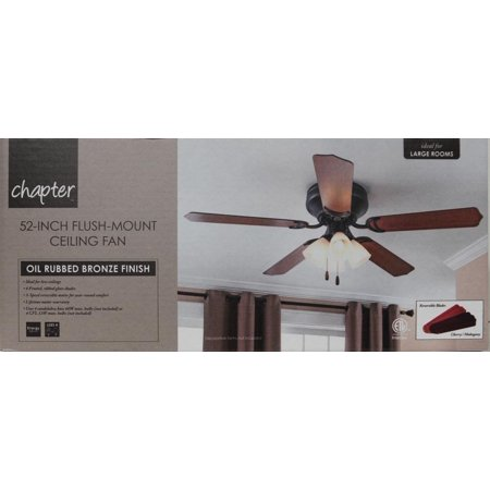 Chapter 52 4 light oil rubbed bronze ceiling fan walmart aloadofball Images