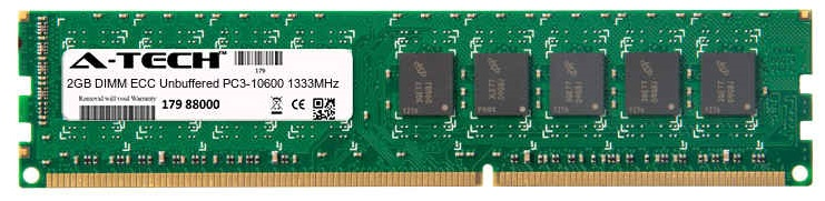 2GB Module PC3-10600 1333MHz ECC Unbuffered DDR3 DIMM Server 240-pin Memory Ram