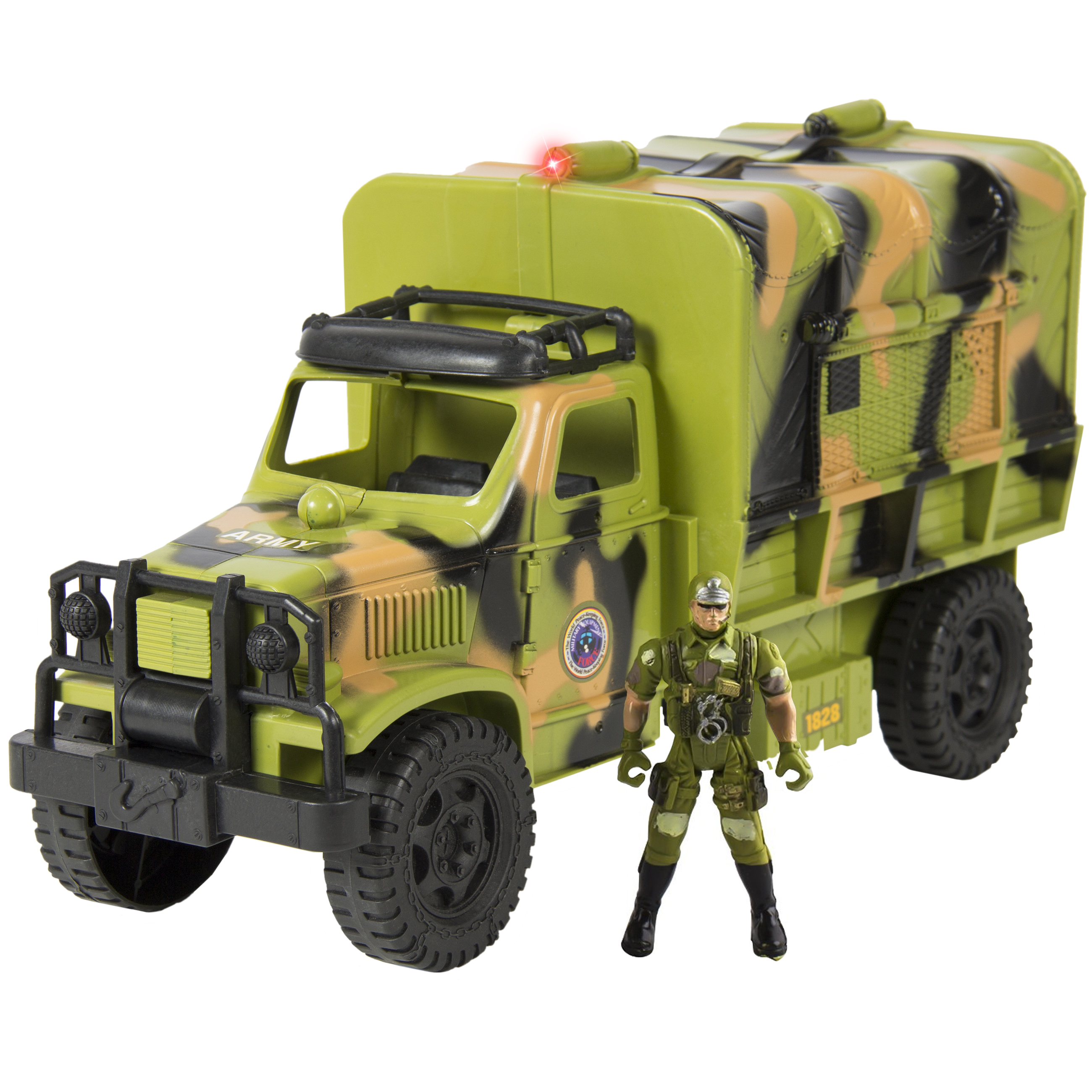 Toy Military Army Fighter Truck With Lights & Sounds Soldier Figurine Included