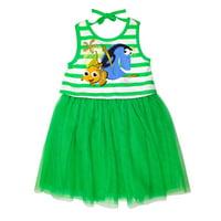 Disney Finding Nemo Girls Green Dory Dress with Tulle Skirt