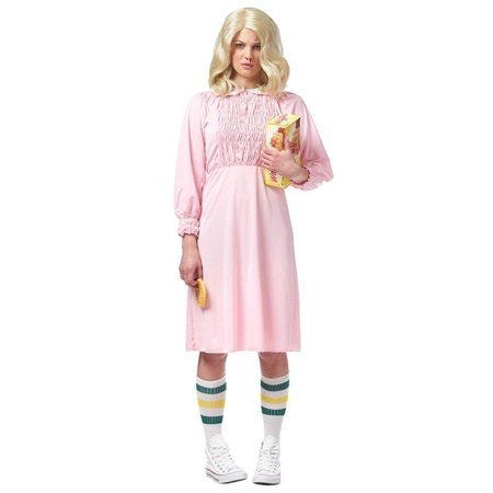 Strange Girl Women's Costume, Pink (Franco Costume Culture)