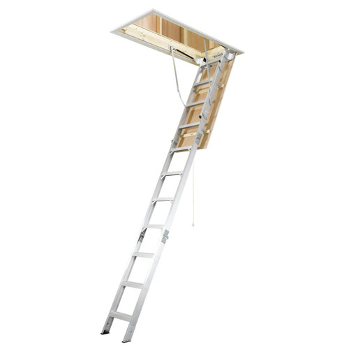 Werner AH2210 8 ft. - 10 ft. Aluminum Attic Ladder (54 in...