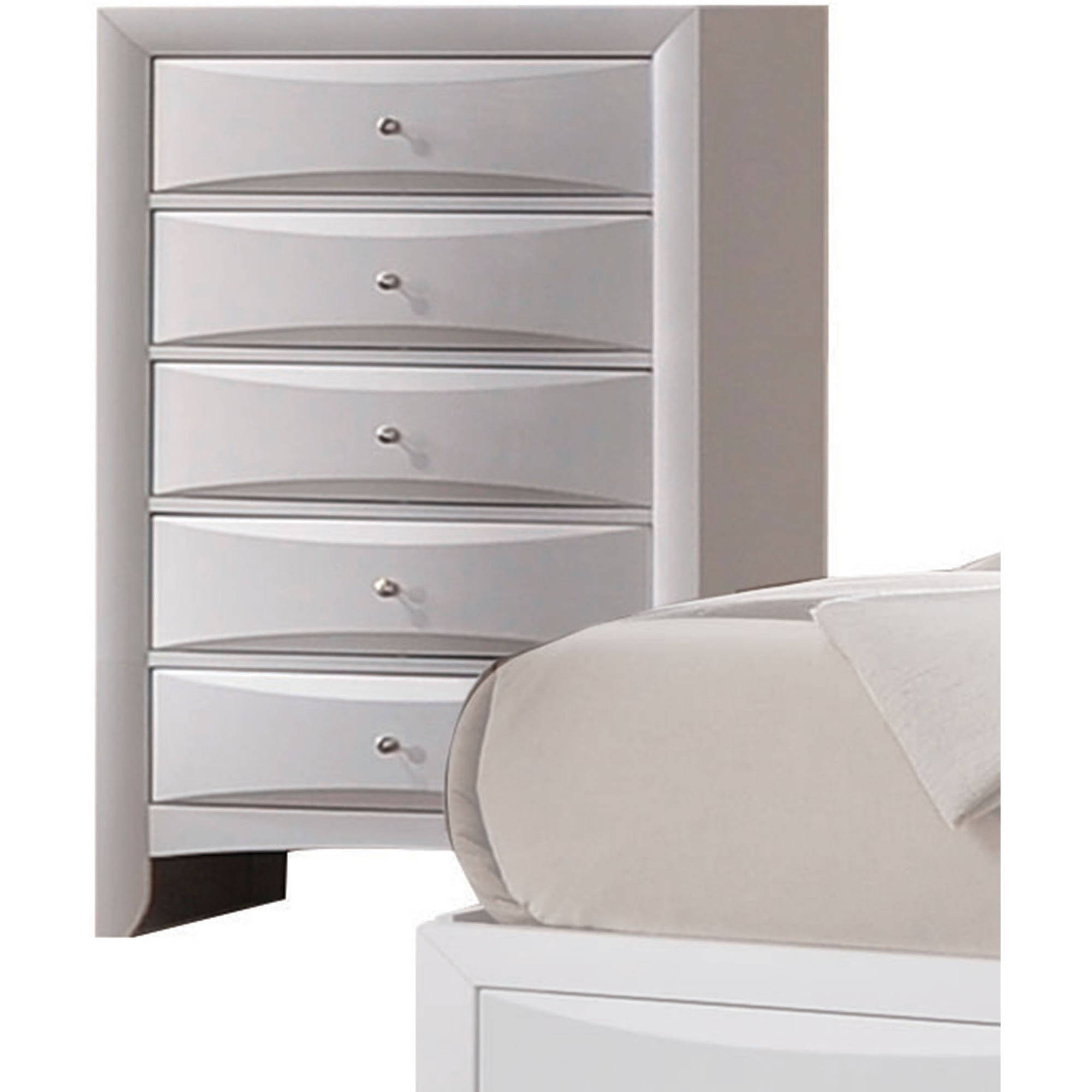 Acme Furniture Ireland White Chest with Five Drawers