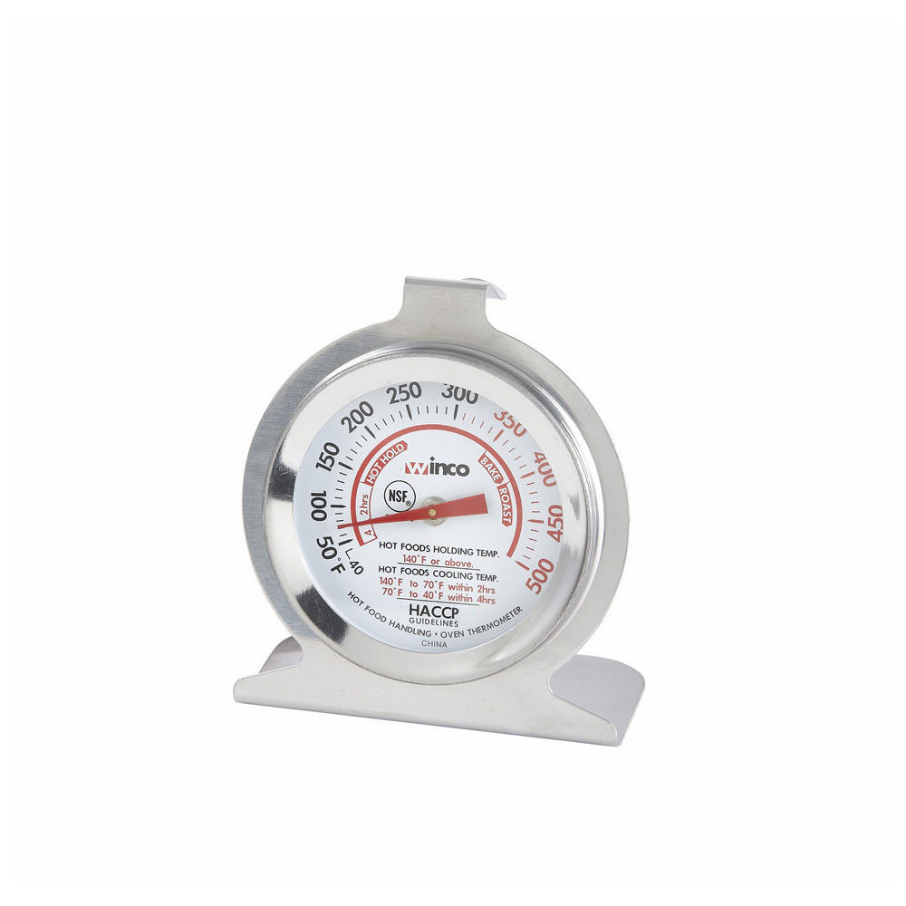 Winco 2-Inch Dial Oven Thermometer with Hook and Panel Base by Winco
