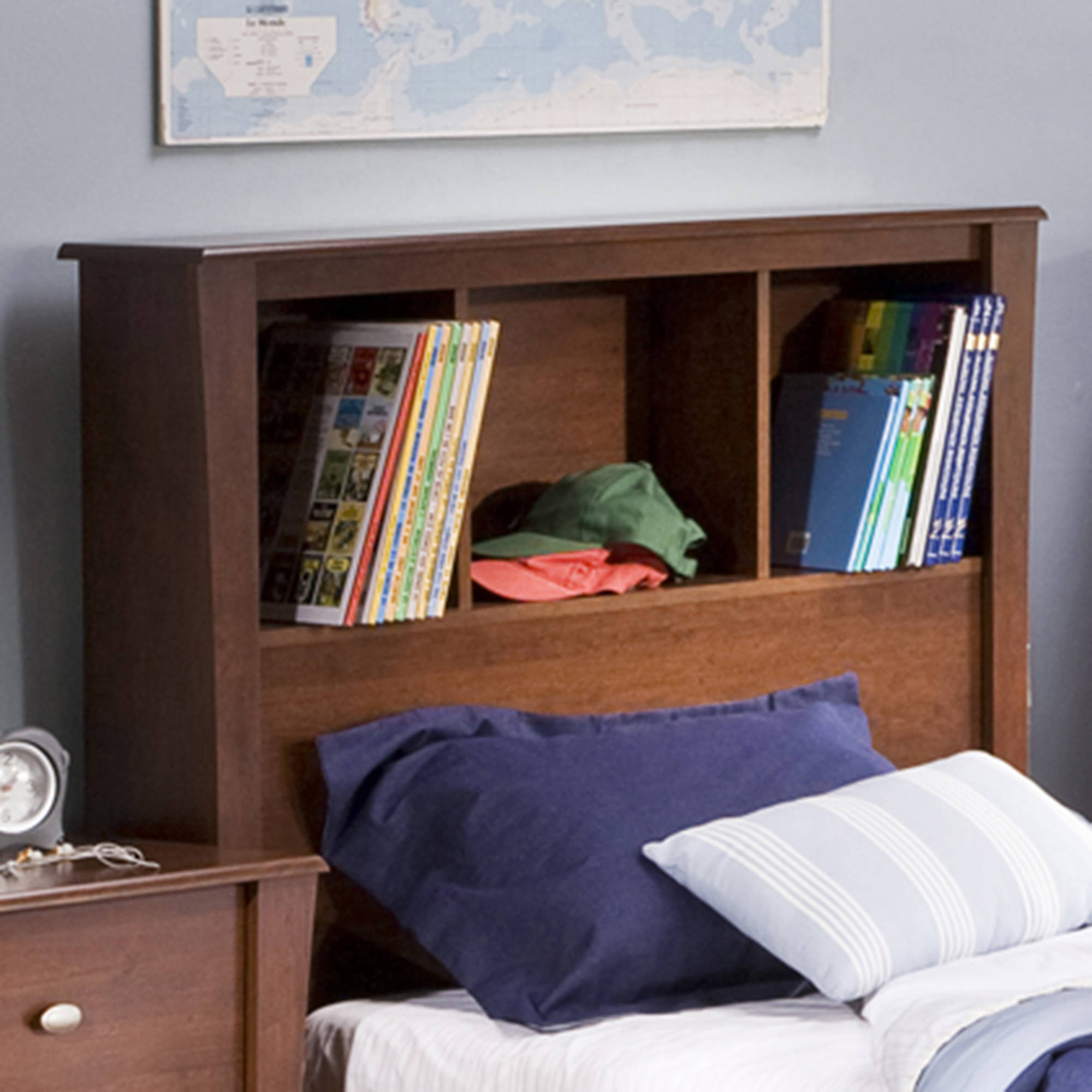 """South Shore Jumper Twin Bookcase Headboard 39"""", Multiple Finishes"""