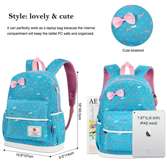 5febeeae8af Fitibest Girls School Backpacks for Teen Girls Lightweight Bookbags School  Bag Cell Phone Messenger Bags Pencil Case Set of 3 - Light Blue
