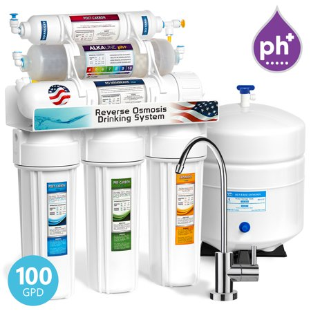 Express Water 10-Stage 100 GPD Undersink Reverse Osmosis Alkaline Mineral Water Filter System