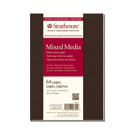 Mixed Media Journals - Strathmore Mixed Media Art Journal, 500 Series, 90 lb., 5.5 inch x 8 inch