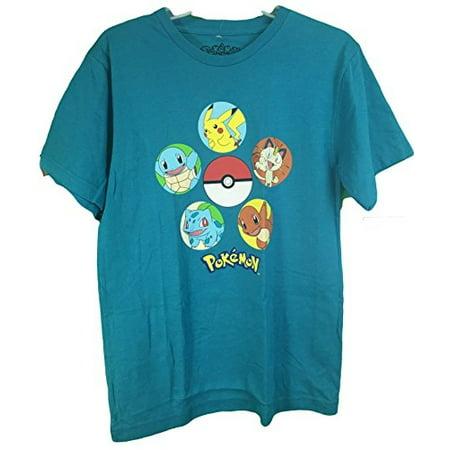 Pokemon Pokeball Pikachu Chiarizard Men's T-Shirt Teal - Pikachu T Shirt