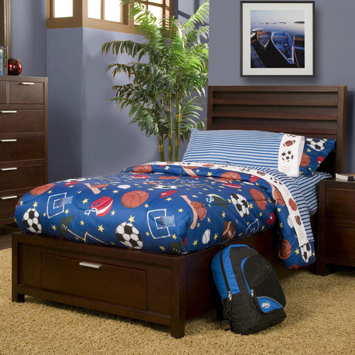 Alpine Furniture TA-12 T Camarillo Youth Storage Platform Bed