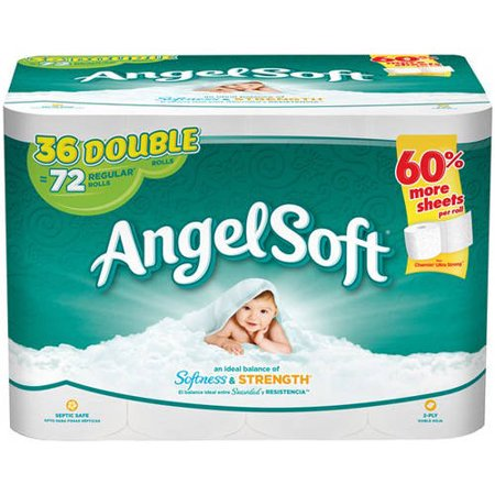 Angel Soft Toilet Paper  36 Double Rolls. Angel Soft Toilet Paper  36 Double Rolls   Walmart com
