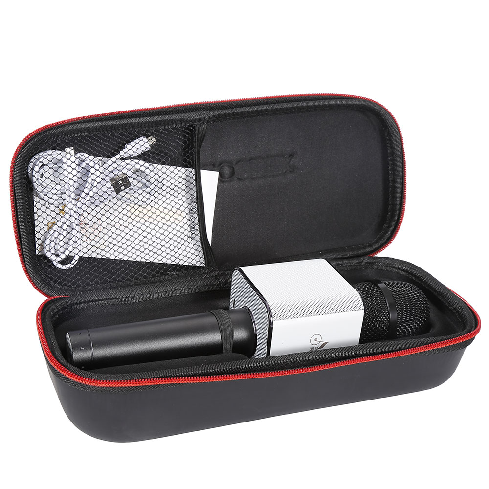Jeobest Wireless Handheld Microphone Q9 KTV Karaoke bluetoo th USB Player Portable Pink