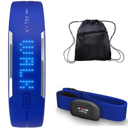 Polar - Loop Activity Tracker with H7 Heart Rate Sensor M-XXL and Bag - Blue