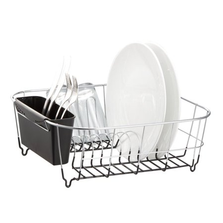 Neat O Chrome Plated Steel Small Black Dish Drainer Drying