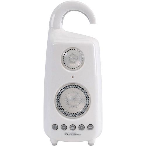 Audio Unlimited 900MHz Wireless Shower Speaker, White