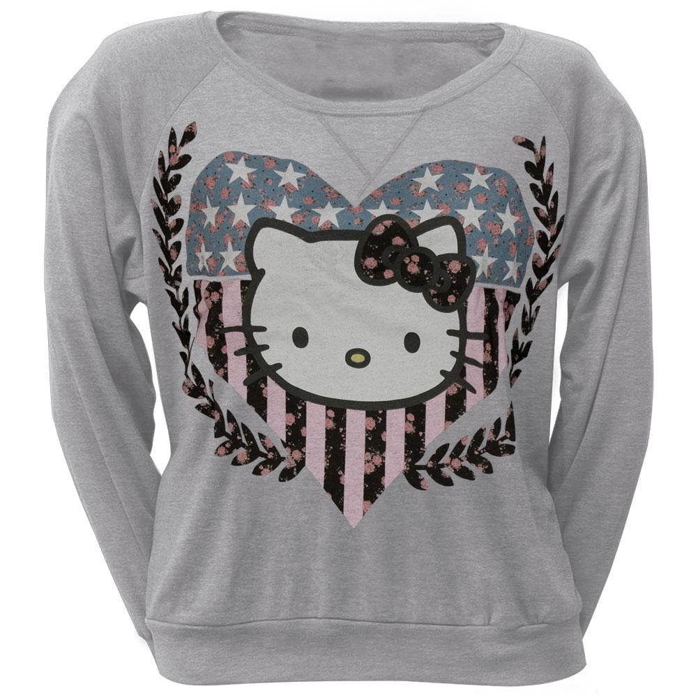 Hello Kitty - HK Crest Juniors Long Sleeve T-Shirt
