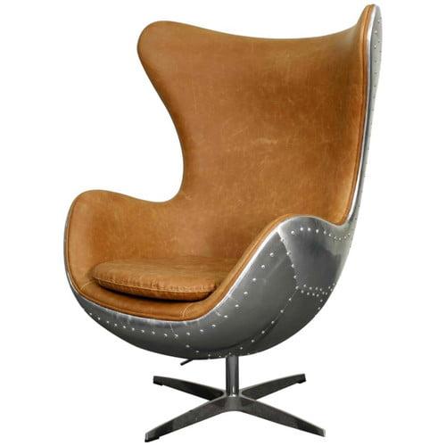 17 Stories Devaughn Swivel Wingback Chair