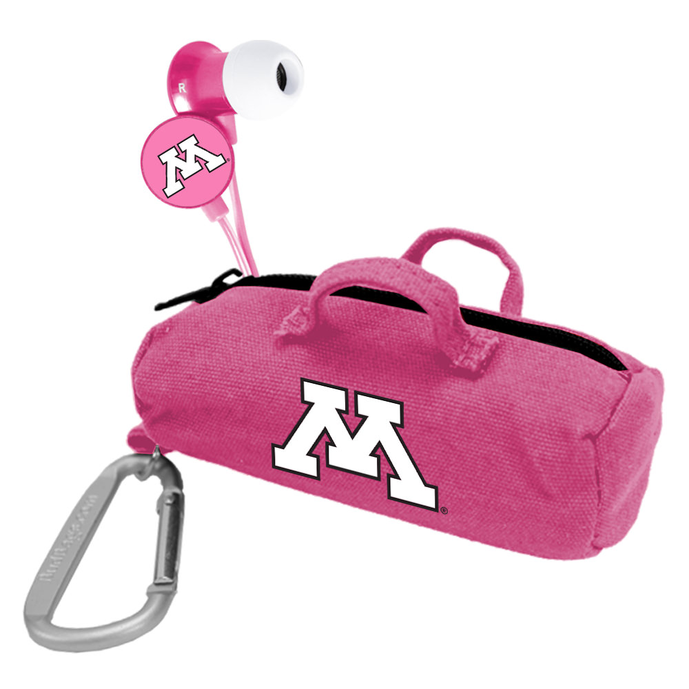 Minnesota Golden Gophers Pink Scorch Earbuds with BudBag