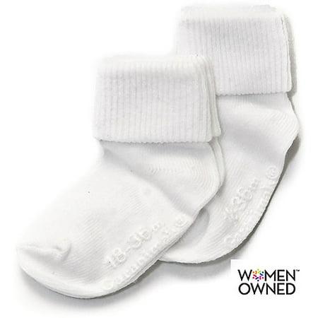 Newborn Baby Gripper Socks, 2 Pairs