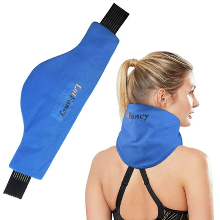 Neck Ice Pack Wrap, Hot Cold Therapy for Shoulder, Cervical, Medical Cooling Gel Pack for Arthritis, Tendonitis, Sports Injuries, Migraines, Headache, Microwavable Heating