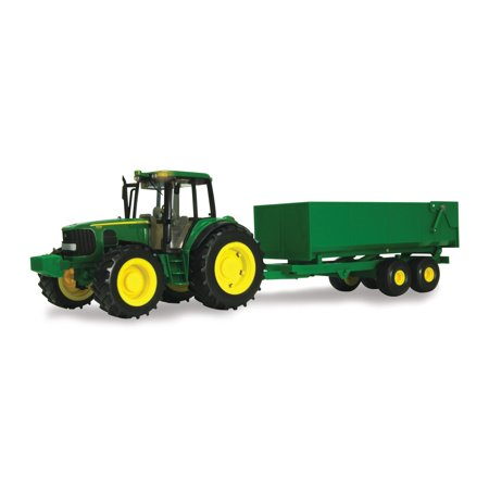John Deere Big Farm Toy Tractor, 7430 Tractor with Wagon, 1:16