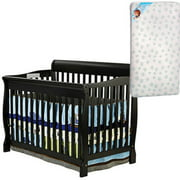 Dream On Me Ashton Convertible 5-in-1 Crib and Mattress Value Bundle