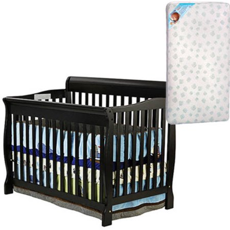 Dream On Me Ashton Convertible 5-in-1 Crib and BONUS Mattress Bundle