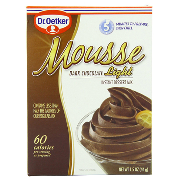 Dr. Oetker Dark Chocolate Light Mousse 1.5 oz Boxes Pack of 6 by
