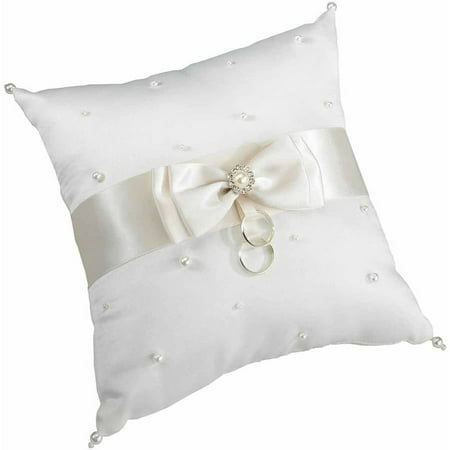 Ring Barer (Lillian Rose Scattered Pearl Ring Bearer Pillow,)