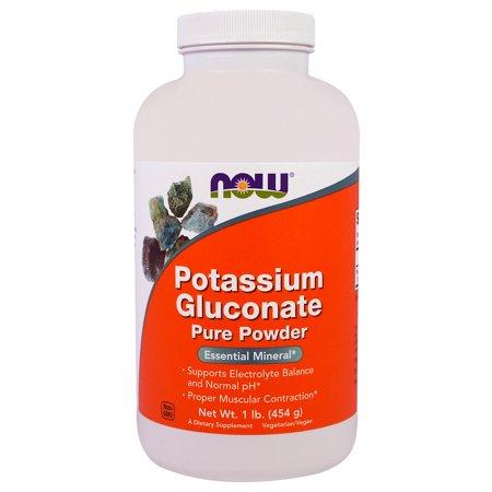 Now Foods, Potassium Gluconate Pure Powder, 1 lb (454 g)(pack of 2) 2 Lb Powder Now Foods