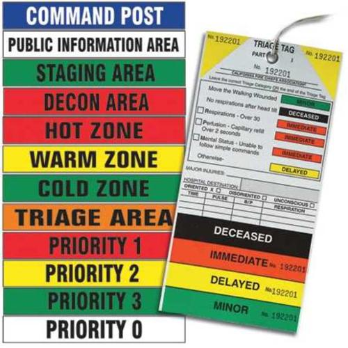 HLH-KIT Incident ID Kit, Hazmat, 500 ft x 3 In