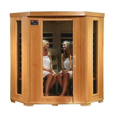 Pool Heat Wave SA2420DX Tucson 4 Person Infrared Sauna Carbon Heaters [Istilo241246] by GSS